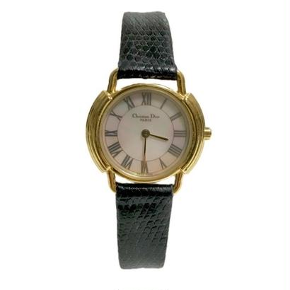 Christian Dior shell logo watch