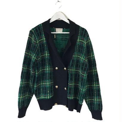 green check design knit