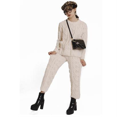 soft cable knit pants