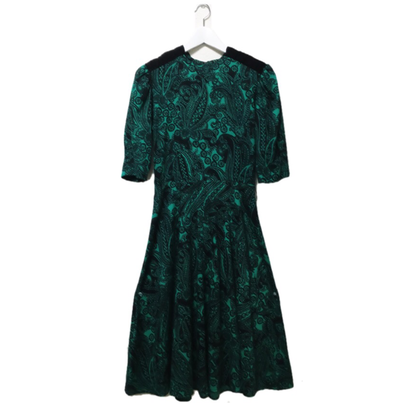 paisley one-piece green