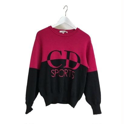 Dior big logo bi-color knit