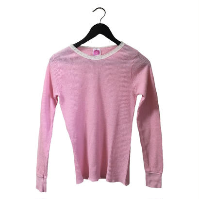 lace design thermal tops pink