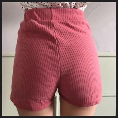 lib summer knit short pants pink