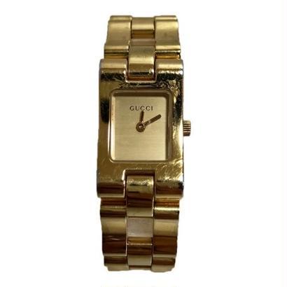 GUCCI square design gold Watch