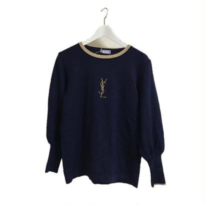 YSL logo design knit navy