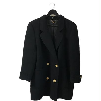 【スペシャルプライス】gold botton wool coat black