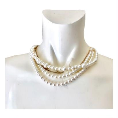 pearl chain mix necklace