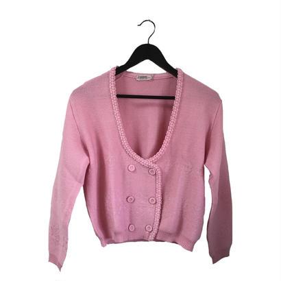 spring pink knit cardigan