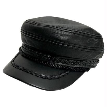 real leather cord design cap