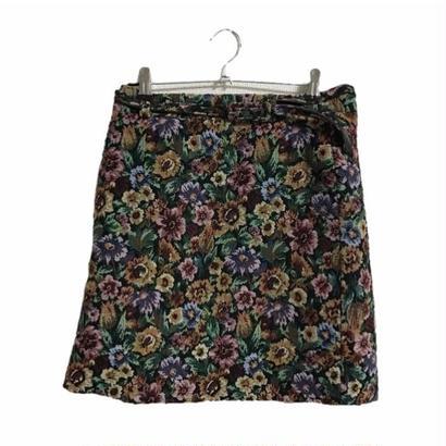 antique flower mini skirt
