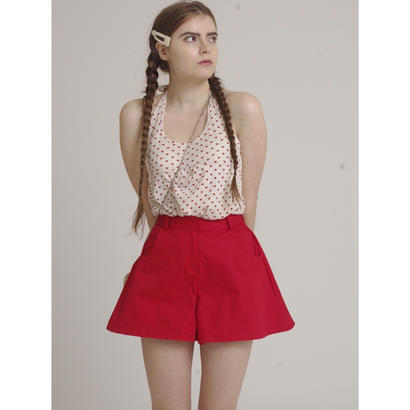 flare design short pants red