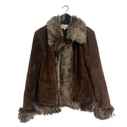mouton fur coat blown