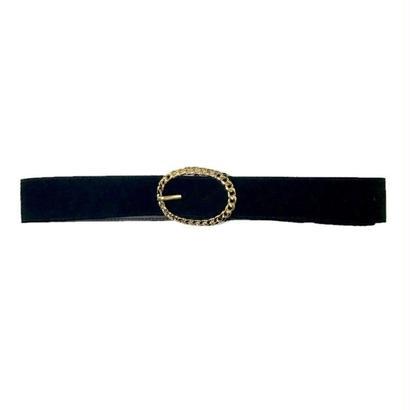 gold buckle suède belt