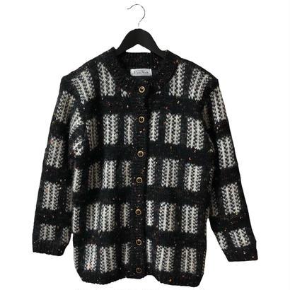 tweed design vintage  knit cardigan