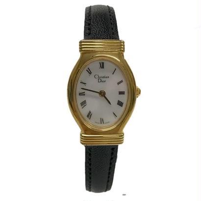 Christian Dior gold frame vintage Watch(No.6281)