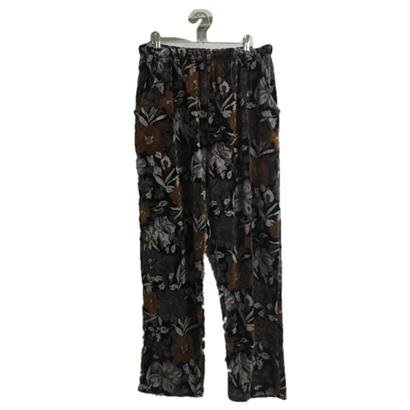 velours flower pants