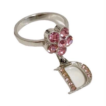 Dior flower design ring