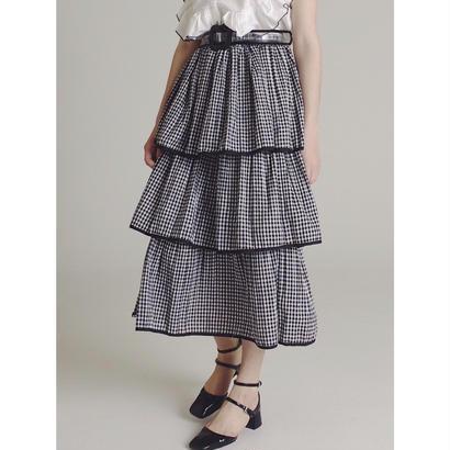 gingham check  3volume skirt