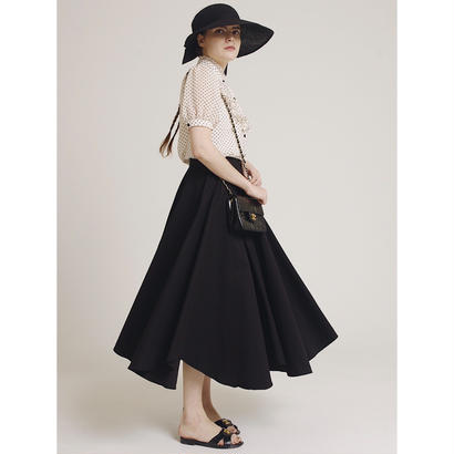 volume design flare skirt black
