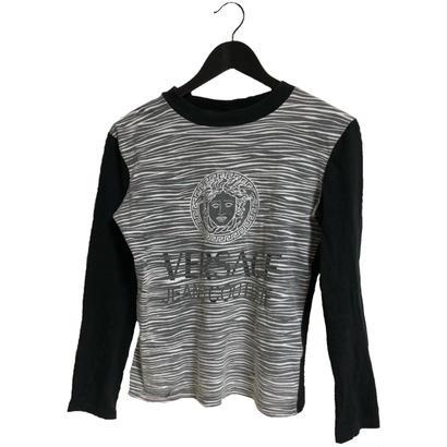 Versace logo print tops