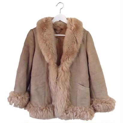 mouton coat beige