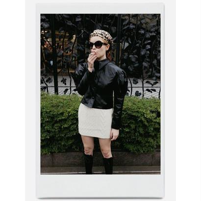 arm volume leather jacket black
