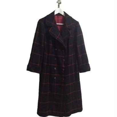 【スペシャルプライス】check design long coat