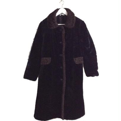 piping design fur long coat