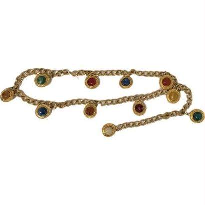 colorful stone chain belt