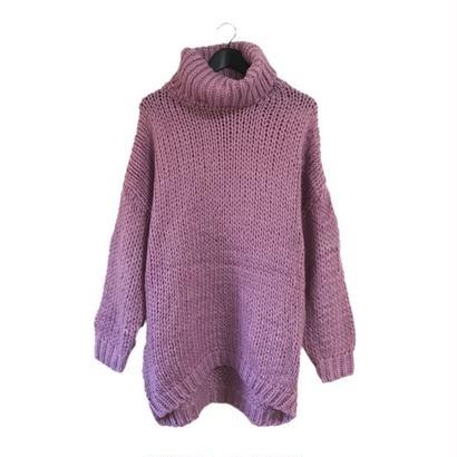 high neck knit onepice