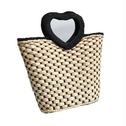 heart motif bucket bag