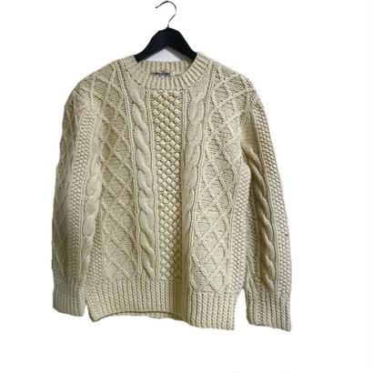 vintage cable knit ivory