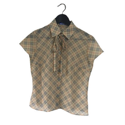Burberry check design chiffon  blouse