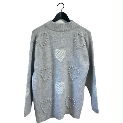 vintage Heart design knit