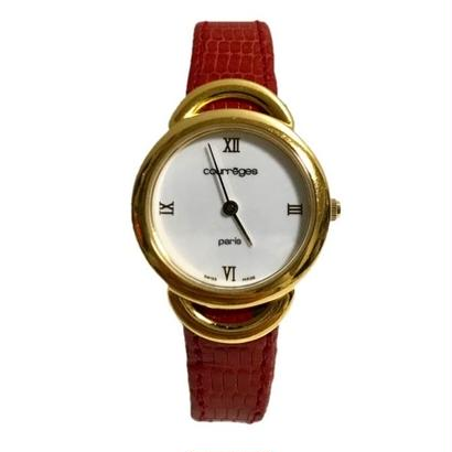 【スペシャルプライス】 courreges leather belt Watch