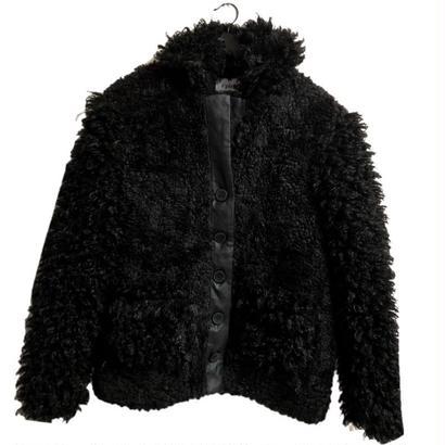 【スペシャルプライス】curly boa fur coat black
