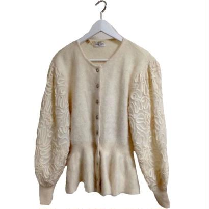 cord mohair knit cardigan