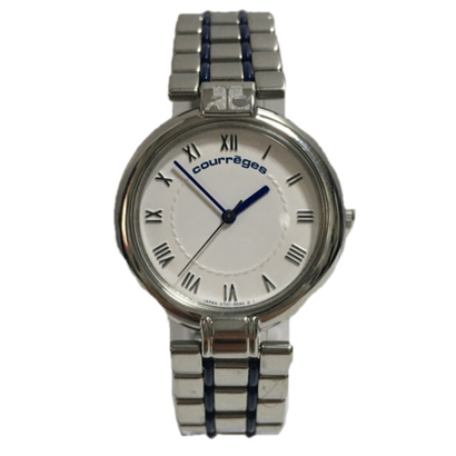 courrèges silver Watch