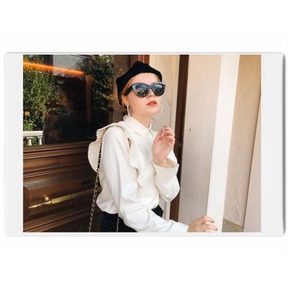 pleats design blouse ivory