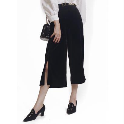 velour slit pants