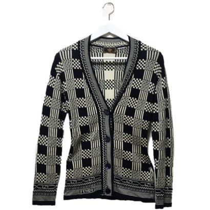 FENDI logo knit cardigan