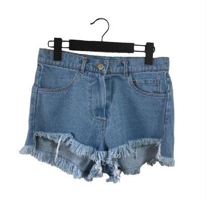 cut off denim short pants