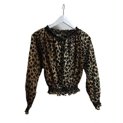 leopard volume blouse