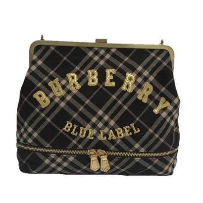 Burberry check logo bag