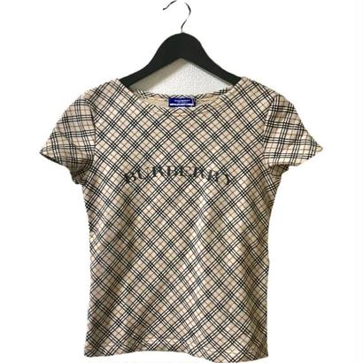 Burberry check logo tee
