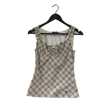 Burberry  check design frill tops
