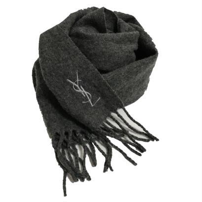 YSL logo muffler gray