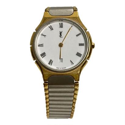 YSL white logo design Watch