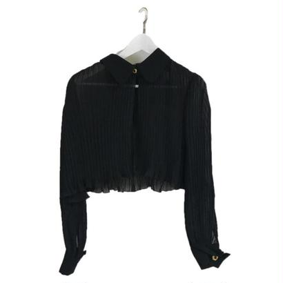 see-through pleats blouse