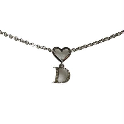 Dior heart motif necklace